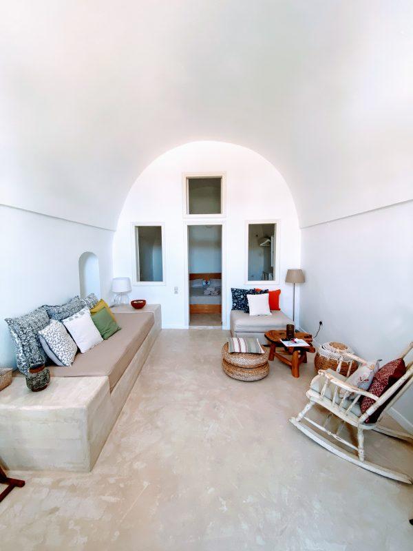Inside Bonora Country Houses hotel room in Finikia Greece
