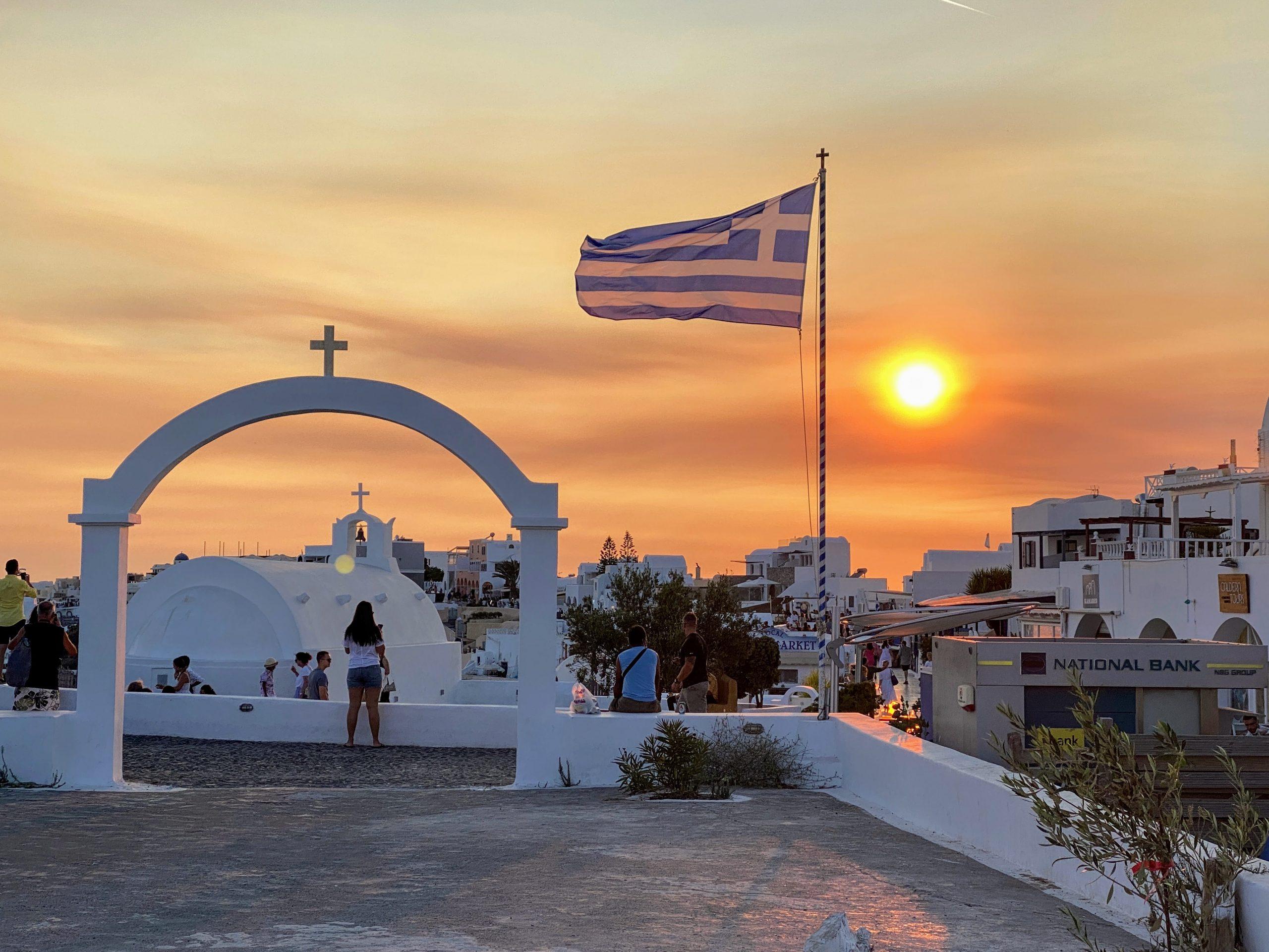 Oia Santorini at Sunset