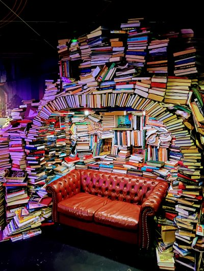 Meow Wolf Denver Book Couch